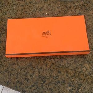 Hermès Orange Wallet Storage Box